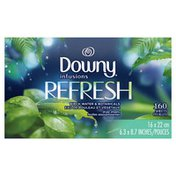 Downy Infusions Fabric Softener Dryer Sheets, Refresh, Birch Water & Botanicals,
