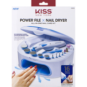Kiss Nail Care Kit, All-In-One, Power File/Nail Dryer