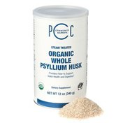 PCC Organic Whole Psyllium Husk Dietary Supplement