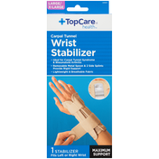TopCare Large/ X-Large Maximum Support Carpal Tunnel Wrist Stabilizer