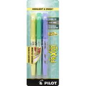 Pilot Highlighter, Erasable, Pastel Collection
