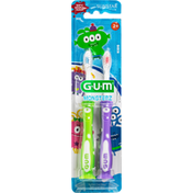 GUM Toothbrush, Monsterz, Soft, Kids