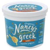 Nancy's Organic Fat Free Honey Probiotic Greek Yogurt