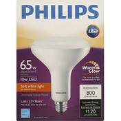 Philips Light Bulb, LED, Indoor Flood, Soft White, 10 Watts