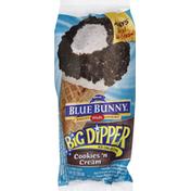 Blue Bunny Big Dipper Cookies 'N Cream Cone