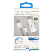 Goxt 12v Dual USB Charger 3ft