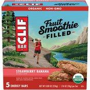 CLIF BAR Fruit Smoothie Filled Strawberry Banana Energy Bar