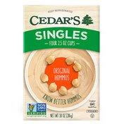 Cedar's Foods Original Hommus Singles