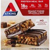 Atkins Protein Meal Bar, Peanut Fudge Granola