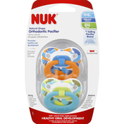 NUK Pacifiers, Orthodontic, Natural Shape, Silicone, 0-6 Months