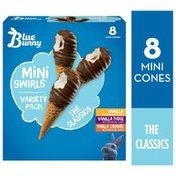 Blue Bunny Mini Swirls Classic Variety Pack Cones