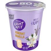 Light + Fit Nonfat Gluten-Free Vanilla Yogurt