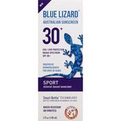Blue Lizard Sunscreen, Mineral-Based, Sport, Original, Broad Spectrum, SPF 30+