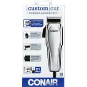 Conair Haircut Kit, Chrome, 21 Piece