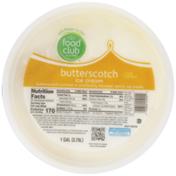 Food Club Butterscotch Swirled In Vanilla Ice Cream