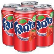 Fanta 12 Oz Strawberry Soda