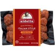 Aidells Chicken Meatballs, Italian Style with Mozzarella Cheese, 24 oz. (Fully