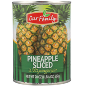 Our Family Pineapple Sliced In 100% Pineapple Juice