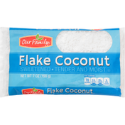 Our Family Flake Coconut, Sweetened, Tender and Moist