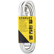 Stanley Indoor Extension Cord, White, 3-Outlet, 15 Feet