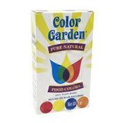 Color Garden Pure Natural Food Colors Multi Pack Red,yellow, Blue & Orange