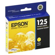 Epson Ink Cartridge, Standard-Capacity, Yellow 125, T125420