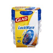 Glad LockWare Small Containers & Lids - 3 CT