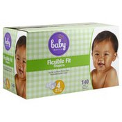 Baby Basics Diapers, Flexible Fit, Size 4 (32-37 lb)