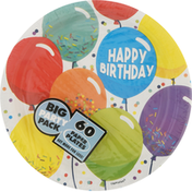 Amscan Paper Plates, Happy Birthday, 9 Inch, Big Party Pack