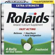 Rolaids Advanced Strength Antacid Plus Anti Gas Tablets Rolls