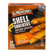 El Monterey Shell Shockers Chicken Taquitos Nacho Cheese - 24 CT