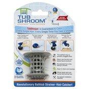 Tub Shroom Strainer/Hair Catcher, Neutral Gray