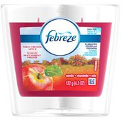 Febreze Candle Febreze Scented Candle Fresh Pressed Apple Air Freshener (1 Count, 4.3 oz) Air Care