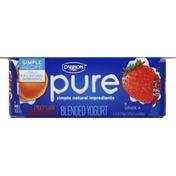 Dannon Blended Yogurt, Peach Flavor, Strawberry Flavor