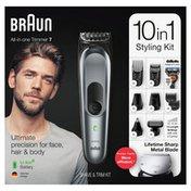 Braun Mgk7221 10-In-1 Body Grooming Kit, Body Groomer, Beard Trimmer, And Hair