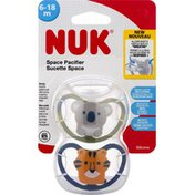 NUK Pacifier, Space, Silicone, 6-18 m