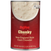 Hy-Vee New England Style Clam Chowder Chunky Soup
