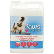Paws Happy Life Lightweight Clumping Cat Litter, Scented For Multi-Cats