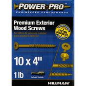 Power Pro Screws, Wood, Premium Exterior