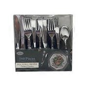 Lillian Tablesettings Polished Silver Plastic Cutlery