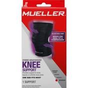 Mueller Knee Support, Hybrid Wraparound, Minimum, One Size