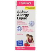 TopCare Children'S Allergy Diphenhydramine Hcl 12.5 Mg/5 Ml Antihistamine Oral Solution Liquid, Cherry