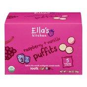Ella's Kitchen Puffits Raspberry + Vanilla - 5 CT