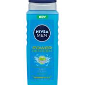 Nivea Body Wash, 3-in-1, Power Refresh