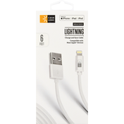 Case Logic Charge and Sync Cable, Lightning, Braided, 6 Feet