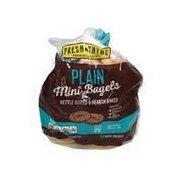 Fresh Thyme Sliced Natural Plain Mini Bagels