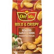 Ore-Ida Bold & Crispy Roasted Garlic & Herb Homestyle Wedges Seasoned French Fri
