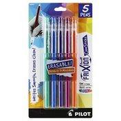 Pilot Pens, Color Sticks, Erasable, Fine (0.7 mm), Assorted Gel Ink