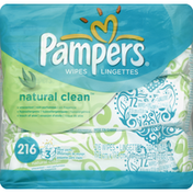 Pampers Wipes, Unscented, Touch of Aloe, Travel Packs