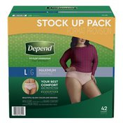 Depend FIT-FLEX Incontinence Underwear for Women, Maximum Absorbency